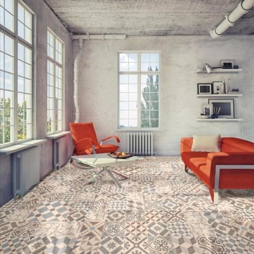 Coventry Grey Patterned Floor Tiles - Direct Tile Warehouse