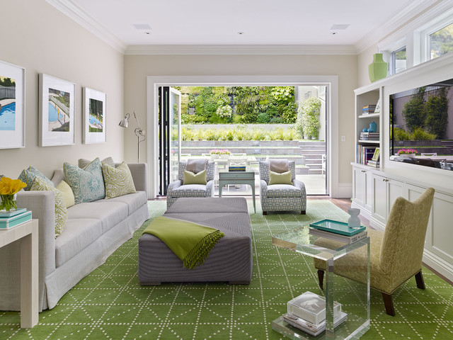 Cow Hollow Historic Home Transitional Living Room Part 55
