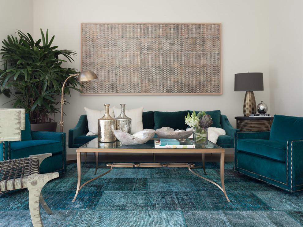 Inspiration for a transitional formal living room remodel in San Francisco