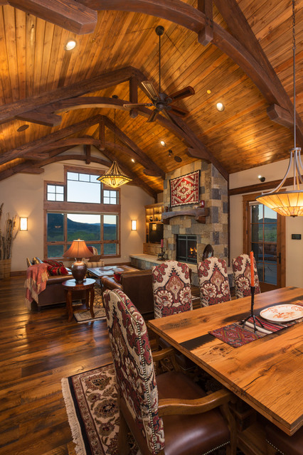 Cowboy up rustic living room denver by amaron for Cowboy living room decorating ideas