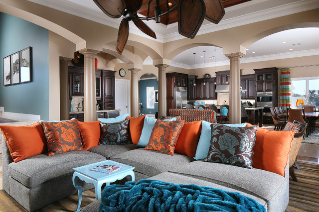 Colorful Living Room cozy & colorful living room  tropical  living room  st louis