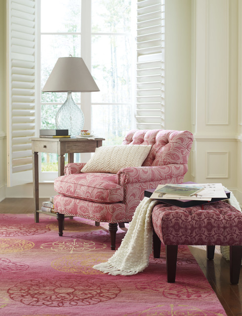 Cozy & Pink Reading Nook! modern-living-room