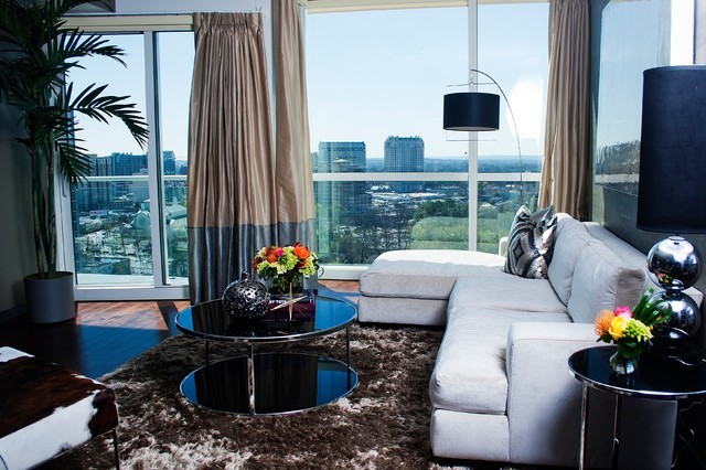 Cozy Atlanta Condo contemporary-living-room