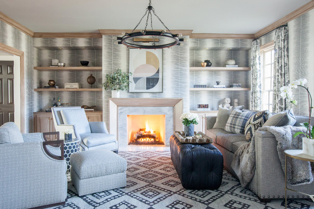 Cozy Chic Traditional Living Room Baltimore By