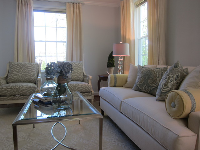 Cozy Chic Fairlington Home traditional-living-room