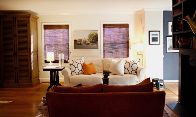 Cozy cottage eclectic living room raleigh by for Cozy cottage living room ideas