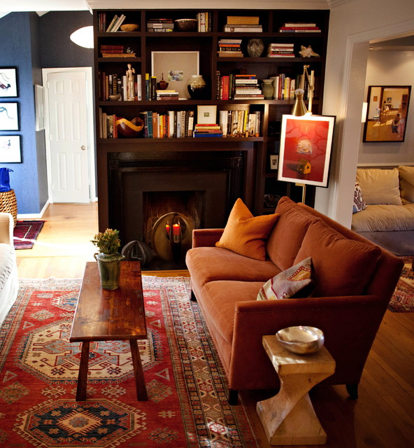 Cozy Cottage Eclectic Living Room Raleigh By