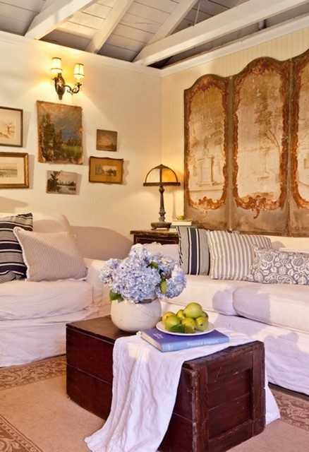Cozy Country Cottage - Traditional - Living Room - los angeles - by