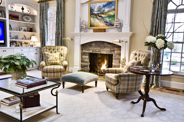 Cozy Fire And Club Chairs Traditional Living Room Richmond By Kirsten