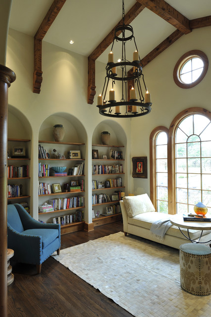 Cozy Library contemporary-living-room