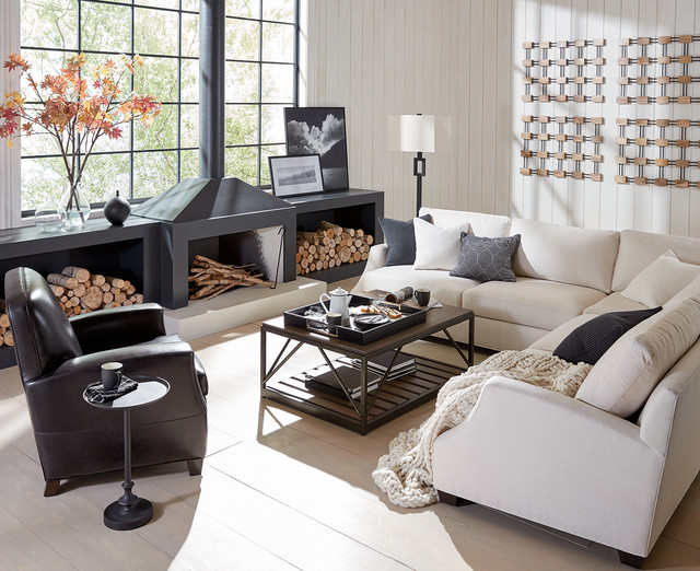 COZY LIVING ROOM IN BLACK AND WHITE - Modern - Wohnbereich ...
