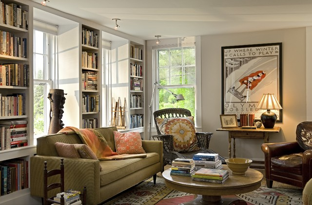 Cozy living room traditional living room burlington for Living room decor ideas houzz
