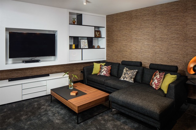 Cozy Tv Room Contemporary Living Room Dublin By