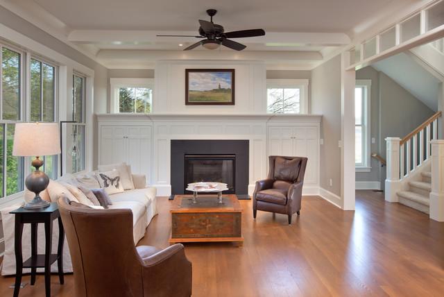 Craftsman Farmhouse craftsman-living-room