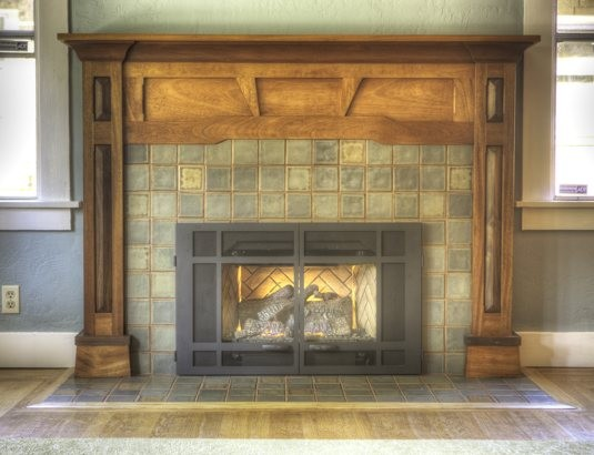 Craftsman Fireplace - Traditional - Living Room - San Francisco - by LOCZIdesign