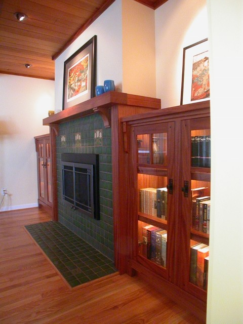 craftsman fireplace mantel traditional living room