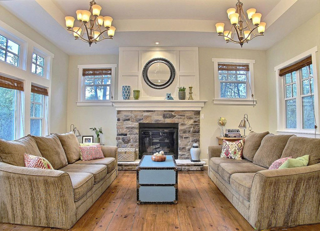 Awesome Craftsman House Interior Traditional Living Room
