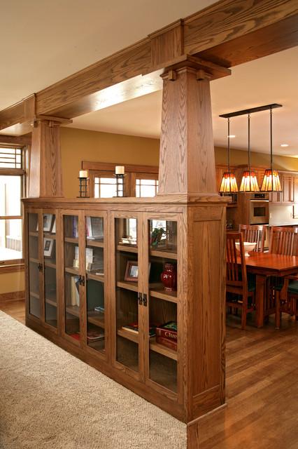 Timeless prairie oak - Built in room dividers ...