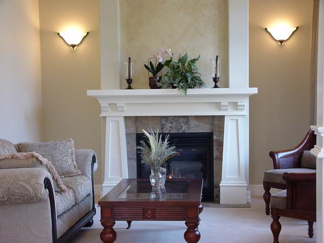 craftsman mantel arts and crafts living room