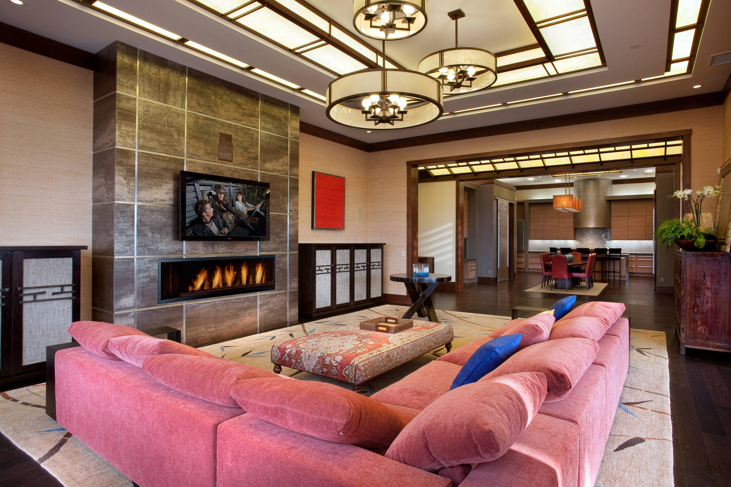 75 Beautiful Pink Living Room Pictures Ideas May 2021 Houzz