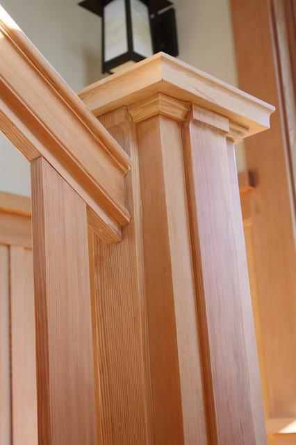 Craftsman Shingle Home craftsman-living-room