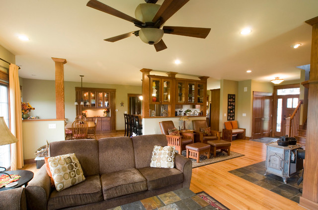 Beautiful Craftsman Style Home Traditional Living Room