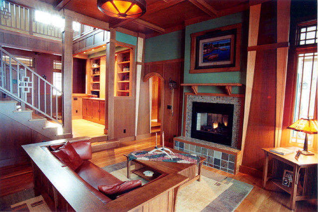 Craftsman Style Living Roomtraditional Room Minneapolis