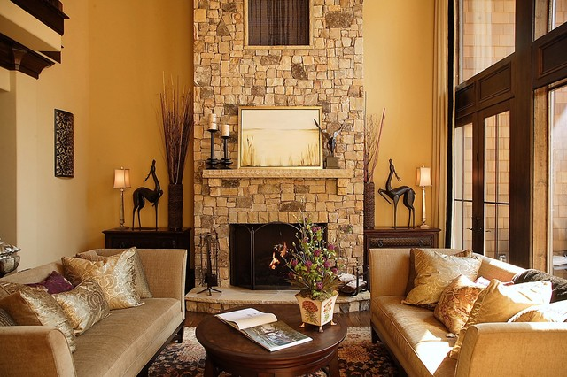 Craftsman style lodge house for Lounge style living room