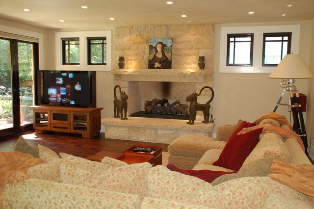 Craftsman style new house craftsman living room for Craftsman style living room ideas