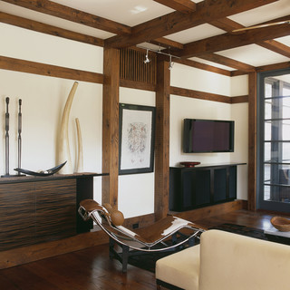 craftsman teahouse asian living room