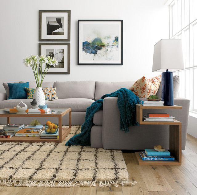 Crate And Barrel Living Contemporary Room
