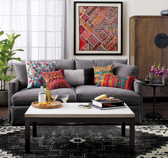 crate and barrel living modern living room chicago by crate