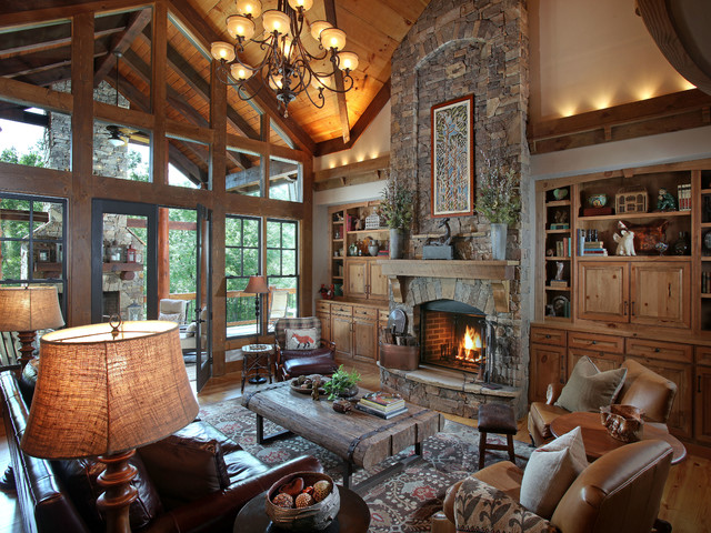Crazy Fox Lodge Traditional Living Room Atlanta By