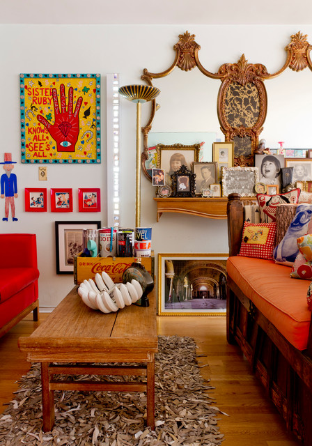 Creating Distictive Space Using Color Lots Of Color Eclectic Living Room New York By