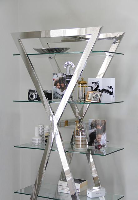 Creatively Displayed Chrome amp Glass Shelves