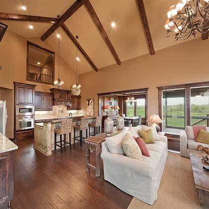 Creekmoor Living/Kitchen eclectic-living-room