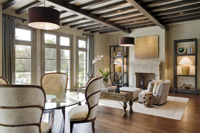 Creeks of Preston Hollow - Show Home contemporary-living-room