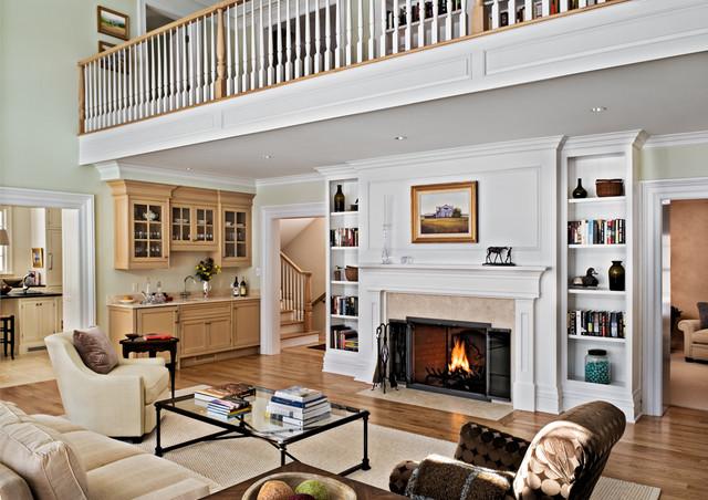 Crisp Architects farmhouse-living-room