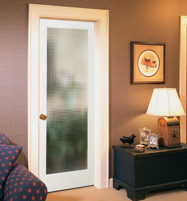 Bon Cross Reed Decorative Glass Interior Door   Eclectic ...