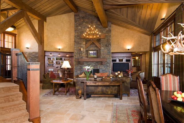 Crosswater Ski Lodge Traditional Living Room