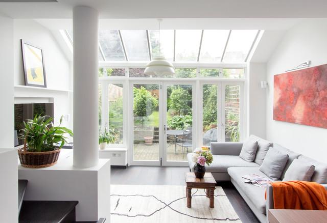 crowland terrace trendy dagligstue london af amberth. Black Bedroom Furniture Sets. Home Design Ideas