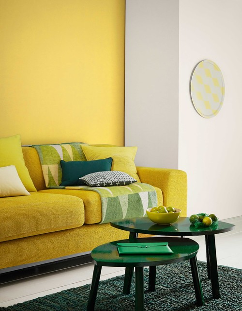 Crown paints modern retro midcentury living room - Crown paint colours for living room ...