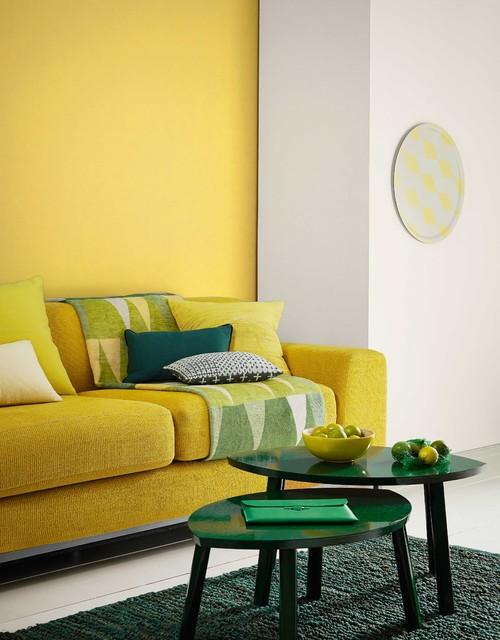gelb und gr n 14 wohnideen f r die sommerzeit. Black Bedroom Furniture Sets. Home Design Ideas