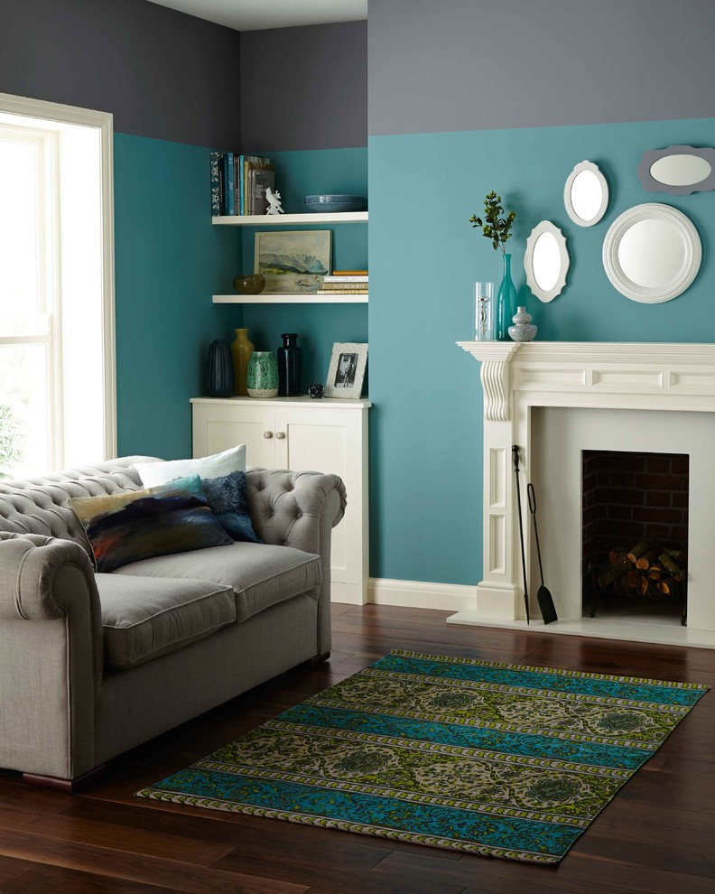 crown paints two tone tranquility  contemporary  living