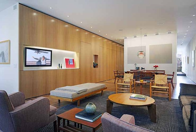 CrystalTech - [ Roger Hirsch Architect ] modern living room