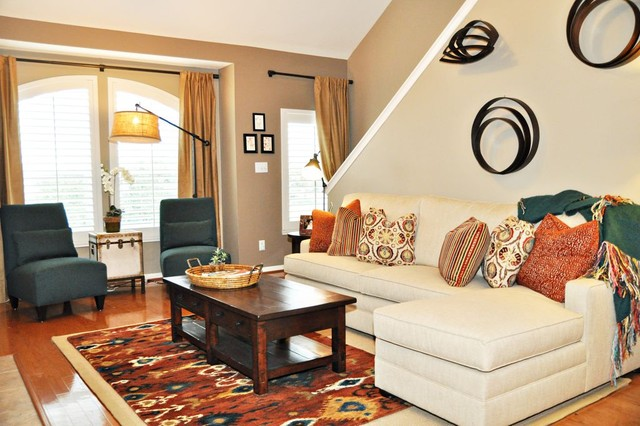 Cs townhome traditional living room houston by for Interior decoration design in nigeria