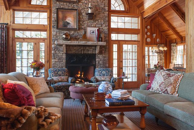 Cullasaja Club Highlands Nc Rustic Living Room