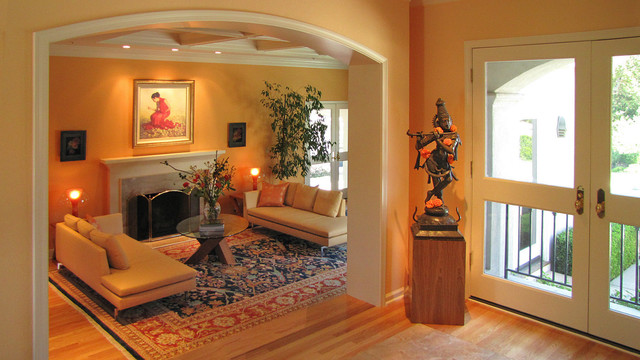 Cultural India Meets Modern Eclectic Living Room San