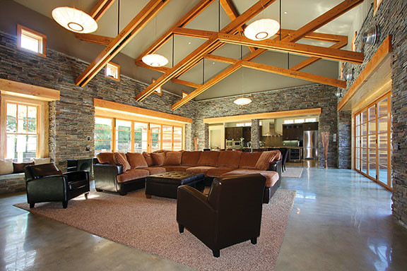 Cultured Stone for Interior decorating traditional-living-room