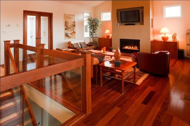 Cumaru flooring gananoque modern living room for Red cumaru hardwood flooring